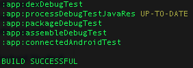 gradle androidConnectedTest