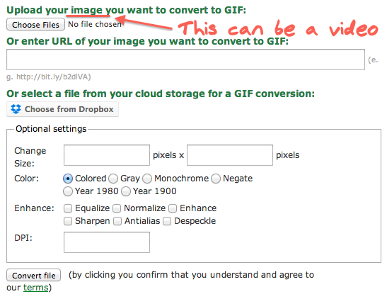 online-convert gif to video