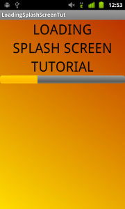progress bar loading resources android