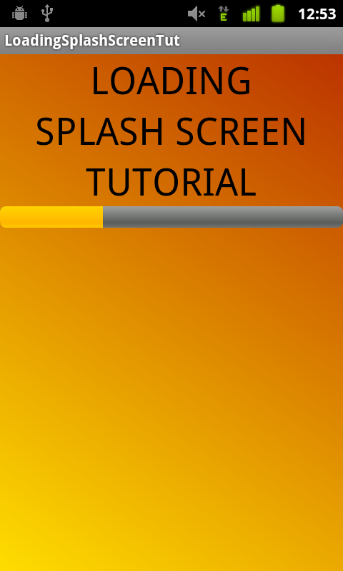 TUT] SplashScreen with Progress Bar | Blundell