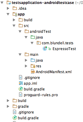 androidTest folder