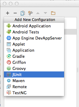create JUnit config