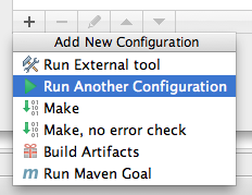 run another config button