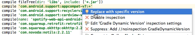 Use the latest version of any library with Android Studio