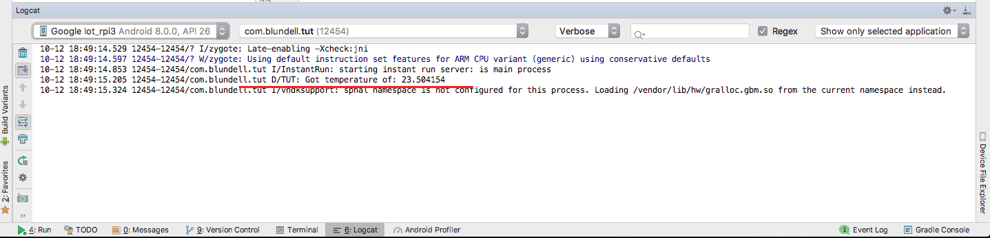 Android I2c Example